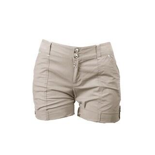 Inc International Concepts Toad Beige Cuffed Twill Shorts