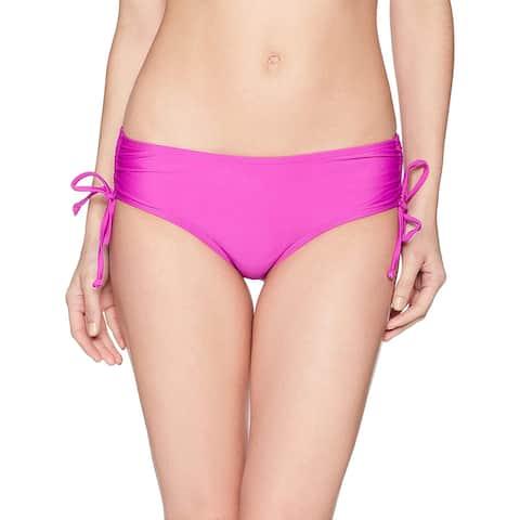 Coastal Blue Women's Swimwear Bikini Bottom, Punchy Purple, L (12-14) - 12