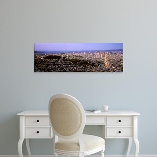 Easy Art Prints Panoramic Images's 'Aerial view of a city, San Francisco, California, USA' Premium Canvas Art