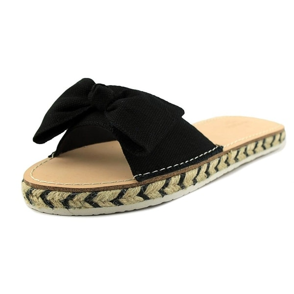 Kate Spade Idalah Women Open Toe Canvas Black Slides Sandal