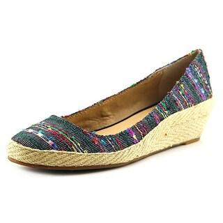 Lucky Brand Tilly Women Open Toe Canvas Wedge Heel