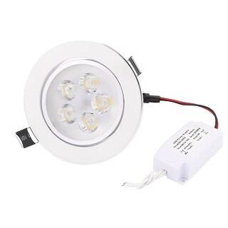 Down Light Round Ceiling Lamp White LED 5W AC 90~265V w LED Power Supply