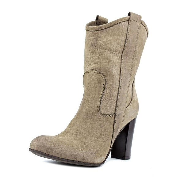 Scoop NYC 865 Women Round Toe Leather Brown Western Boot