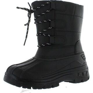 Snow Tec Kids Blizz4 Winter Waterproof Kids Snow Boots - Black