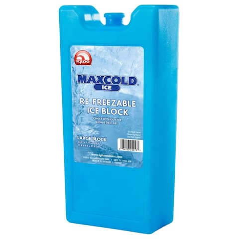 Igloo 25201 MaxCold Re-Freezable Ice Block, Plastic, Blue, 33.8 Oz