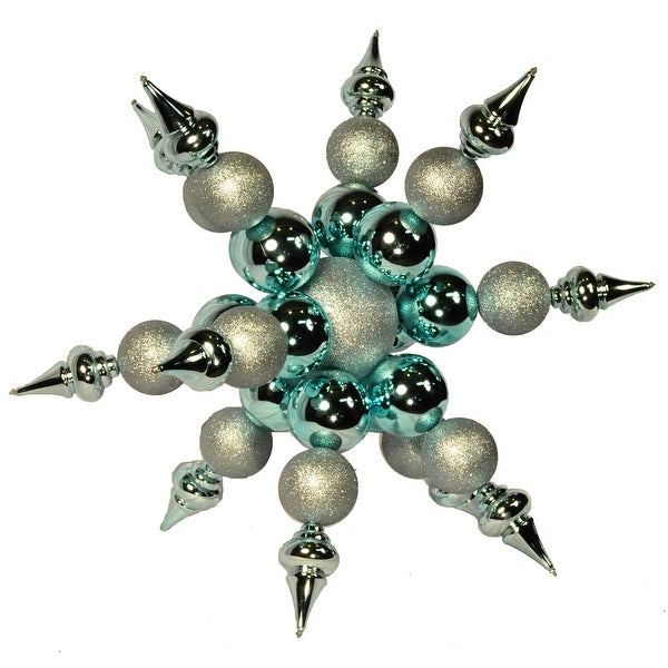 "Christmas at Winterland WL-ORN-SF-BL 36"" Blue Starburst Ornament - N/A"