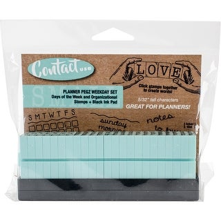 Contact Usa Clickable A Gentle Touch Font Stamps & Ink Pad-Weekday Set