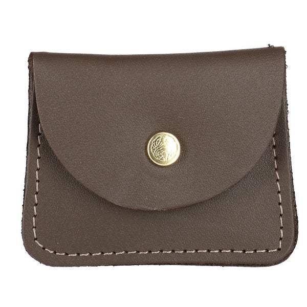 CTM® Men's Leather Double Coin Case Wallet - One size