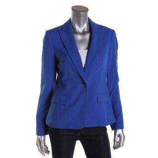 Calvin Klein Womens One-Button Blazer Solid Long Sleeves