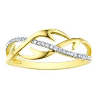 Prism Jewel 0.90MM 0.10CT G-H/I1 Natural Diamond Light Weight Stylist Ring - White G-H