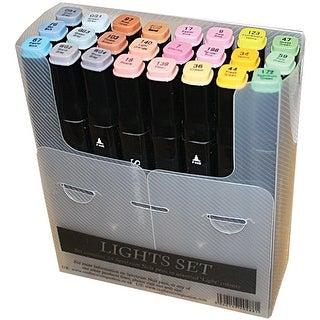 Spectrum Noir Alcohol Markers 24/Pkg-Lights
