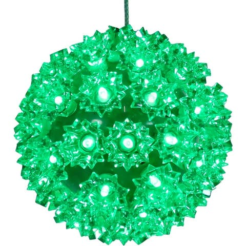 Sunnydaze Indoor/Outdoor Colored Lighted Ball Hanging Decor