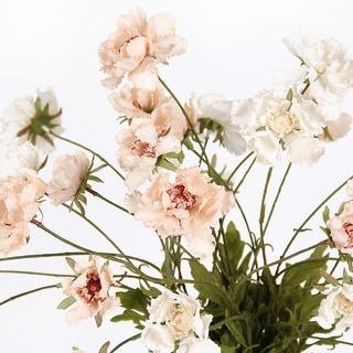 "FloralGoods Silk Serrated Petal Cosmos in Light Beige 25"" Tall"