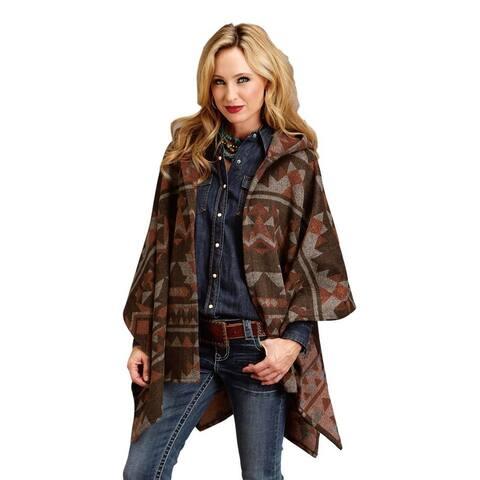 Stetson Western Vest Womens Blanket Wrap Brown