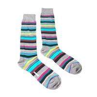 Missoni GM00CMU5235 0001 Gray/Turquoise Knee Length Socks - Grey