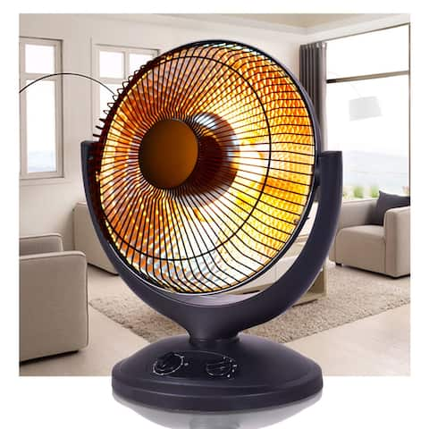 Costway Electric Parabolic Oscillating Infrared Space Heater W/Timer