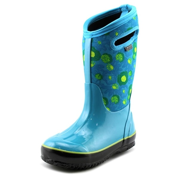 Bogs Classic Watercolor Youth Round Toe Synthetic Blue Rain Boot