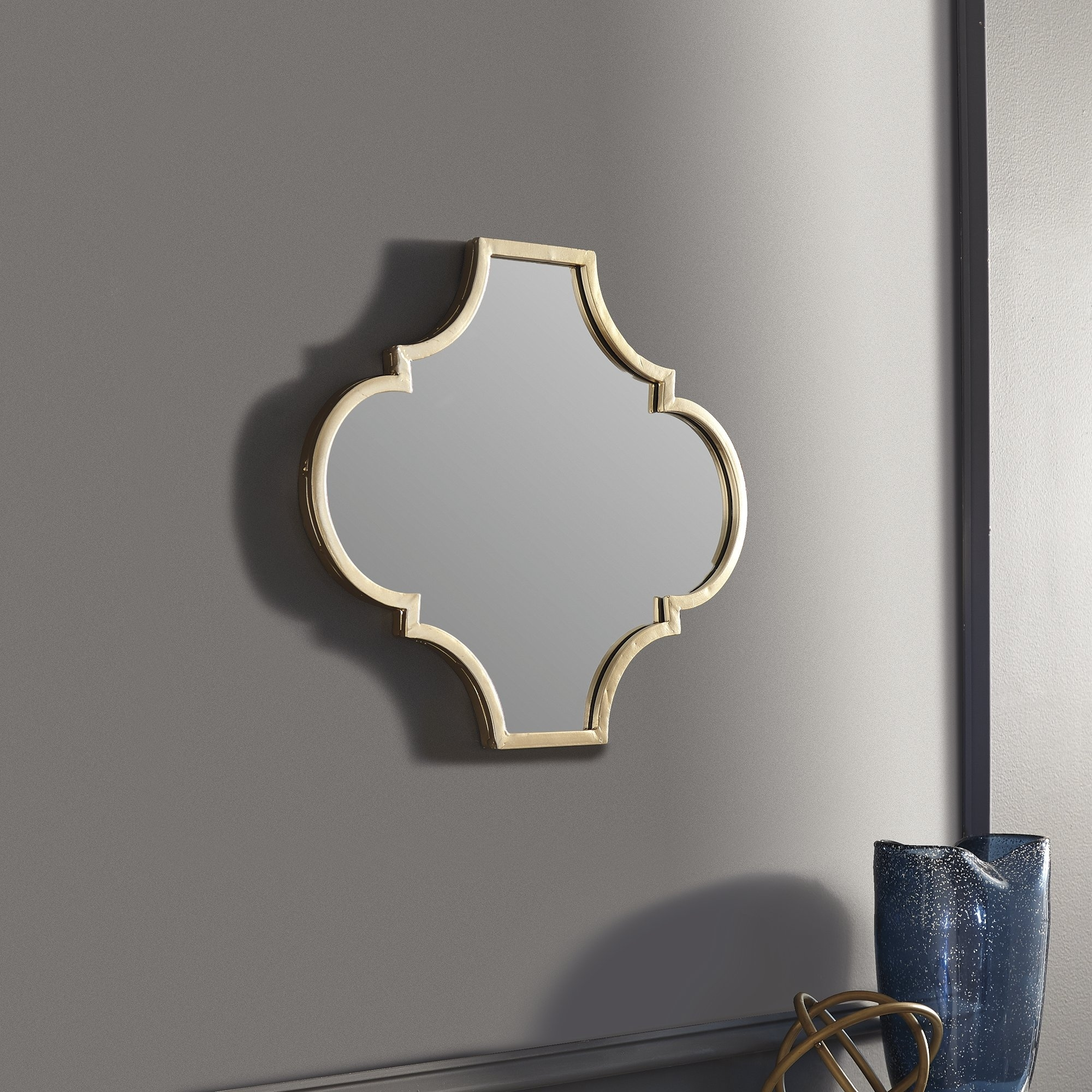Callie Contemporary Gold Accent Mirror 18 75 W X 0 75 D X 16 H Overstock 20892659
