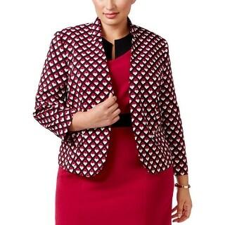 Nine West Womens Plus Blazer Long Sleeves Open Front - 22W