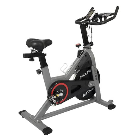 Magneto Stationary Cycling Resistance Bike-LCD,Caged Pedals&Foam Seat - N/A