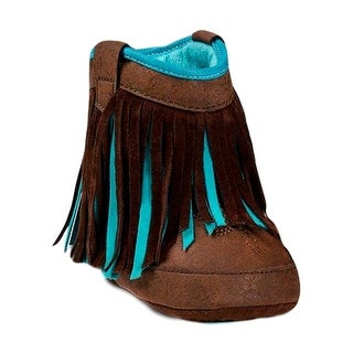 Blazin Roxx Slippers Girls Candace Baby Bucker Fringe Brown (3 options available)
