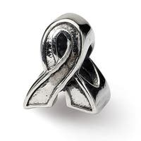 Sterling Silver Reflections Awareness Ribbon Bead (4mm Diameter Hole)