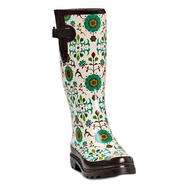 Blazin Roxx Western Outdoor Boots Womens WP Rubber Round Multi