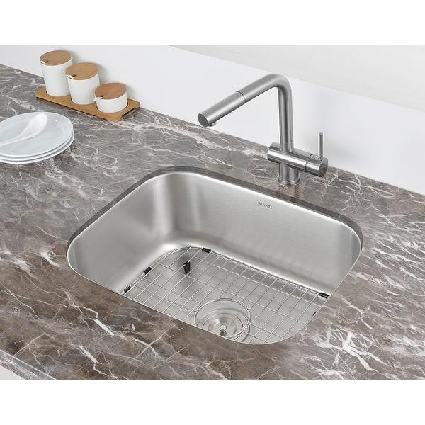 Ruvati 24 In Undermount 16 Gauge Stainless Steel Kitchen Sink Single Bowl Rvm4132 21 1 2 X 15 3 4 21 1 2 X 15 3 4 Overstock 9653630