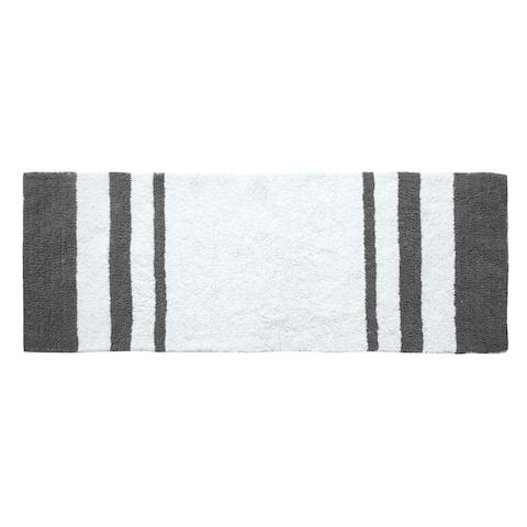 Luxury Plush 100% Cotton Reversible Broad Striped Bath Rug or Runner