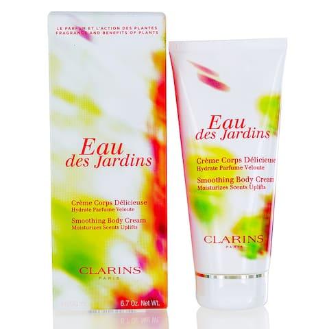 Clarins Eau Des Jardins Smoothing Body Cream 6.7 Oz (200 Ml)