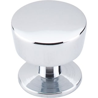 Top Knobs M1124 Nouveau III 1-3/8 Inch Diameter Mushroom Cabinet Knob - Polished Chrome