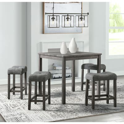 Picket House Furnishings Turner 5PC Dining Set in Charcoal