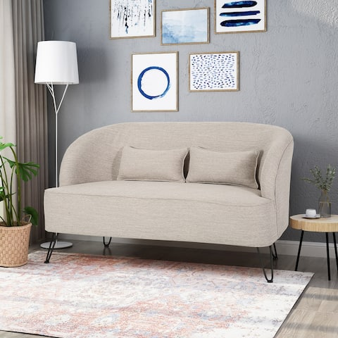 Nilton Modern Fabric Loveseat by Christopher Knight Home