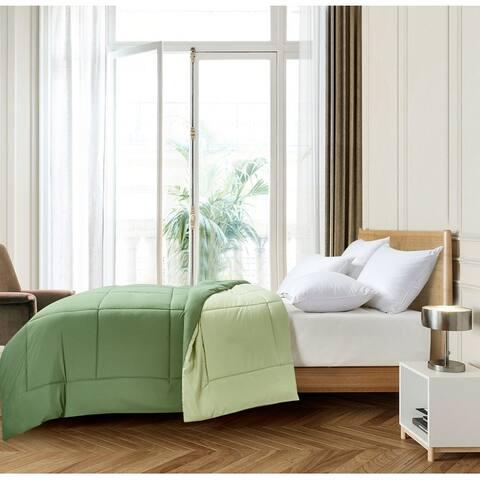 Microfiber Hypoallergenic Reversible Down Alternative Comforter