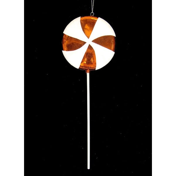 Large Candy Fantasy Orange Dreamsicle Lollipop Christmas Ornament Decoration 17""