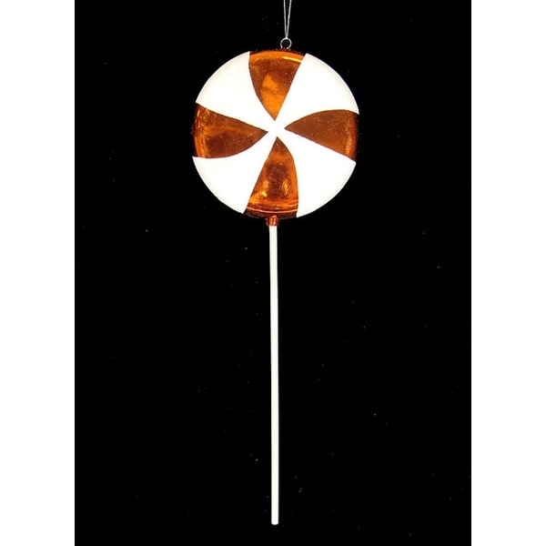 "Large Candy Fantasy Orange Dreamsicle Lollipop Christmas Ornament Decoration 22"""