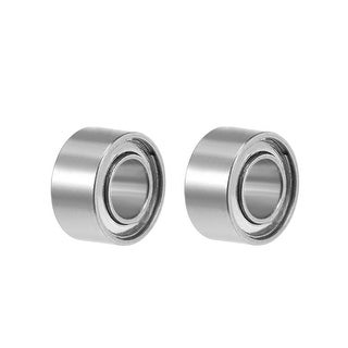 "R133ZZ Deep Groove Ball Bearing 3/32""x3/16""x3/32"" Shielded Bearings 2pcs - 2 Pack - R133ZZ (3/32""x3/16""x3/32"")"