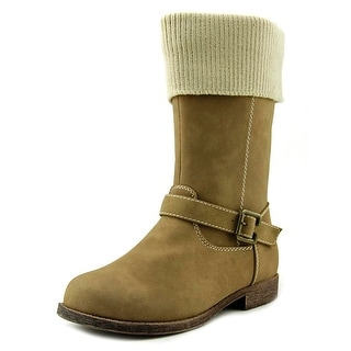 Balleto by Jumping Jacks Breanna Youth Round Toe Synthetic Tan Mid Calf Boot