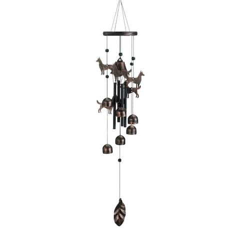 26 Inch Bronze Dogs Wind Chimes