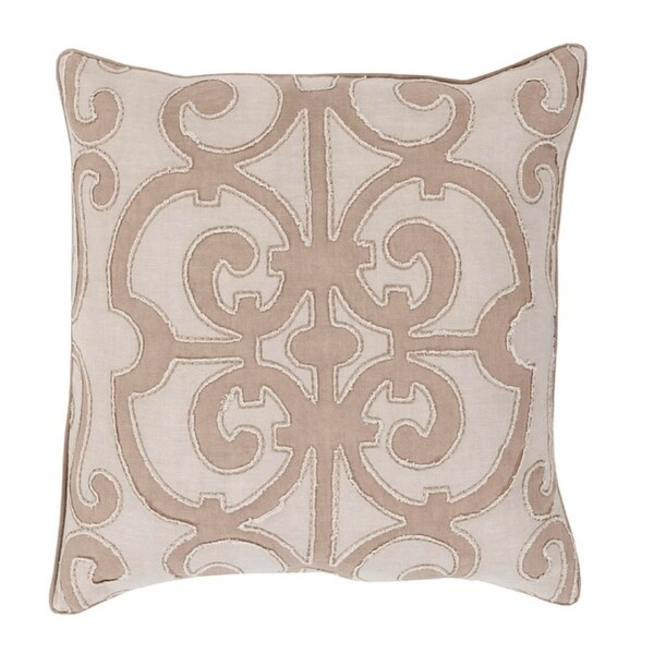 "20"" Princess Dreams Nutmeg Brown Decorative Throw Pillow - Down Filler"