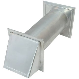 """Air King WC4NS 4"""" Round Aluminum Wall Cap with Back Draft Damper"""