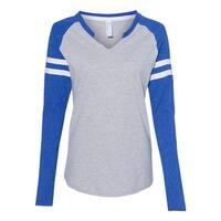 Women's Fine Jersey Mash Up Long Sleeve T-Shirt