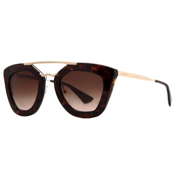 Prada Cinema SPR 09Q 2AU-6S1 Havana Brown Gold Women's Cat Eye Sunglasses - Havana Brown - 49mm-26mm-140mm