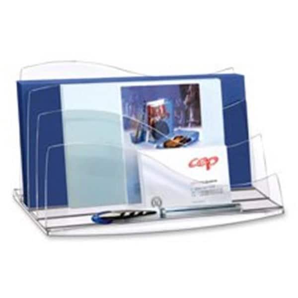 CEP CEP3507404 Desk Accessories- Letter Sorter- Transparent-Ice Blue