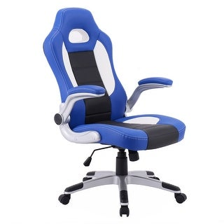 Costway PU Leather Executive Racing Style Bucket Seat Chair 2017 Office Desk Chair