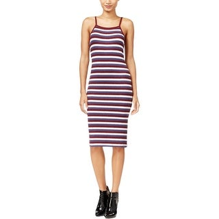 Kensie Womens Bodycon Dress Ribbed Knit Striped