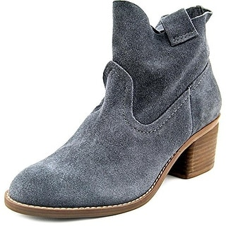 Carlos by Carlos Santana Leighton Women Round Toe Suede Gray Ankle Boot