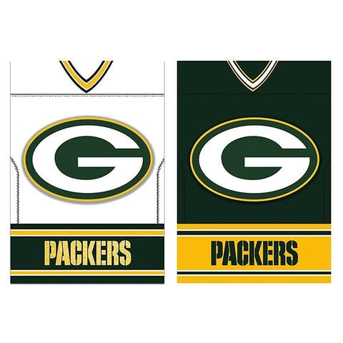 "Green Bay Packers Double Sided Jersey Suede 12.5"" x 18"" Garden Flag"