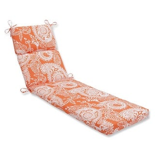 "72.5"" Summer Flower Outdoor Patio Chaise Lounge Cushion"