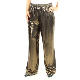 MSK Womens New 1544 Gold Wide Leg Party Pants L B+B